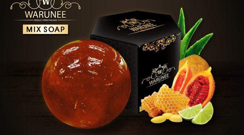 สบู่สมุนไพรธรรมชาติ Warunee Beauty - ( Ball 100G. - Mix Soap )